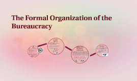 The Formal Organization of the Bureaucracy