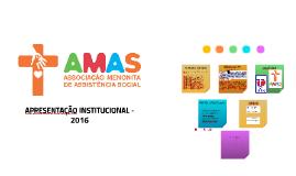 AMAS - APRESENTAÇÃO INSTITUCIONAL