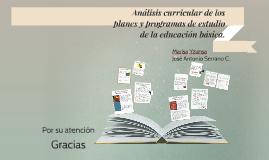 Copy of Análisis curricular de los planes y programas de estudio de