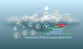 Evènements SFPIO Auvergne de 2002 à 2017