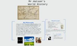 Mr.Watson's World History