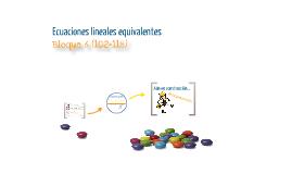 Ecuaciones lineales equivalentes