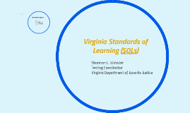 Virginia Standards of Learning (SOLs)