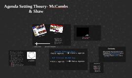 Agenda Setting Theory- McCombs & Shaw