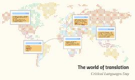 Copy of The world of translation