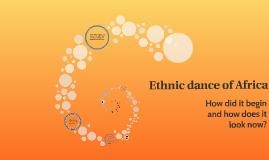 Ethnic dance of Africa