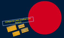 Categorias para analizar una lectura