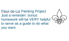 Fleur-de-lis painting project