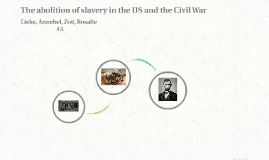 The abolition of slavery in the US and the Civil War
