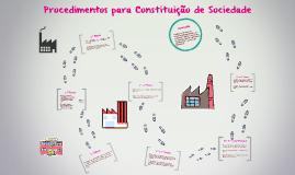 Procedimentos para Constituição de Sociedade