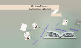 Marks and Spencer: International Expansion