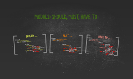 Copy of Copy of MODALS: SHOULD, MUST, HAVE TO
