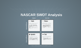 nascar swot analysis Daytona beach became the mecca of nascar racing as france opened the first  25 mile paved oval track: daytona  swot analysis: strengths.