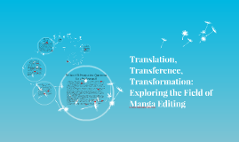 Translation, Transference, Transformation: Exploring the Field of Manga Editing