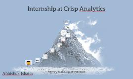 Internship at Crisp Analytics