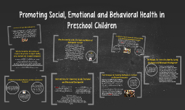 Promoting Social, Emotional and Behavioral Health in Prescho