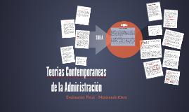 Teorias Contemporaneas de la Administración