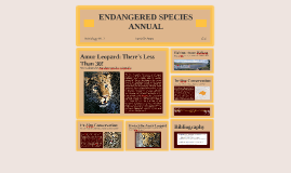 ENDANGERED SPECIES ANNUAL
