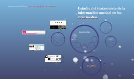Estudio del tratamiento de la información musical en los cib