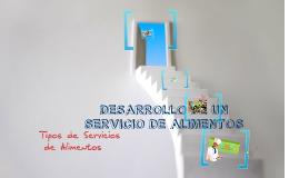 Copy of Tipos de Servicios de Alimentos