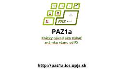 PAZ1a - organizácia (2016/2017)