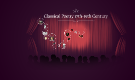 Classical Poetry 17th-19th Century