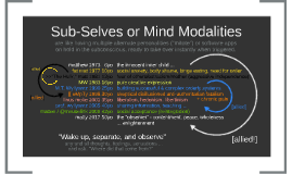 "Sub-Selves or ""Mind Modalities"""