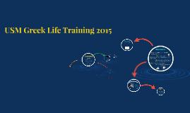 USM Greek Life Training 2015