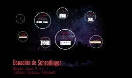 Ecuación de Schrodinger
