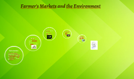 Farmer's Markets and the Enviroment