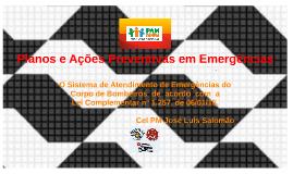 Planos e Ações Preventivas em Emergências