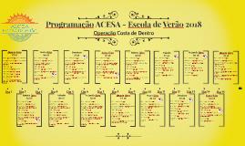 Cronograma ACESA - Escola de Verão 2018