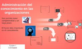 Copy of Administración del conocimiento en organizaciones