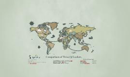 Comparison of Three (3) Leaders