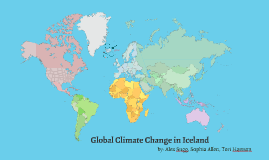 Global Climate change in Iceland