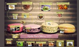 Hyde Park Menu
