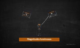 Magnitudes luminosas