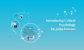 Introducing Critical Psychology