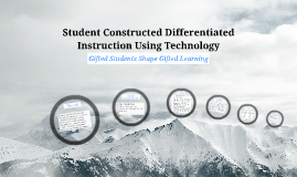 Student Constructed Differentiated Instruction Using Technology