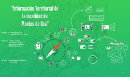 """""""Información Territorial del pueblo Montes de Oca"""""""