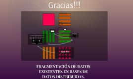 FRAGMENTACION DE DATOS EXISTENES DE BASES DE DATOS DISTRIBUIDAS.