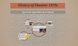Copy of History of Theatre: 1970s