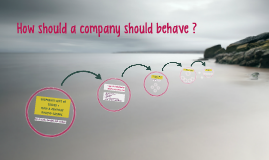 How  should a company should behave
