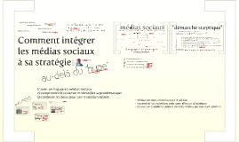 Comment intégrer les médias sociaux à sa stratégie
