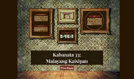 Kabanata 33 : Malayang Kaisipan