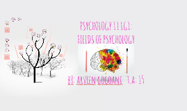 PSYCHOLOGY 11 LG1: FIELDS OF PSYCHOLOGY