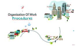 """Work Organization  """"Procedures"""""""