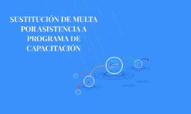 SUSTITUCIÓN DE MULTA POR CAPACITACIÓN