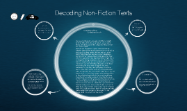 Decoding Non-Fiction Texts