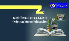 Bachillerato en CCLL con Orientación Jurídica